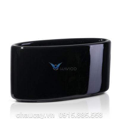 Chậu nhựa composite Havico Viber oval | CB-326