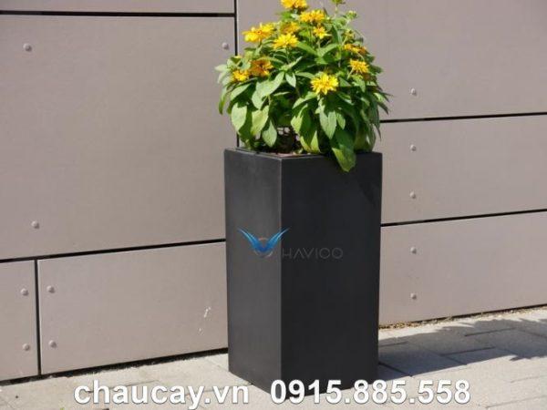 Chậu cây composite Havico Lazy trụ vuông | CB-335