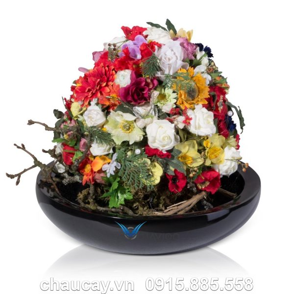 Chậu nhựa trồng cây composite Tapi   C313