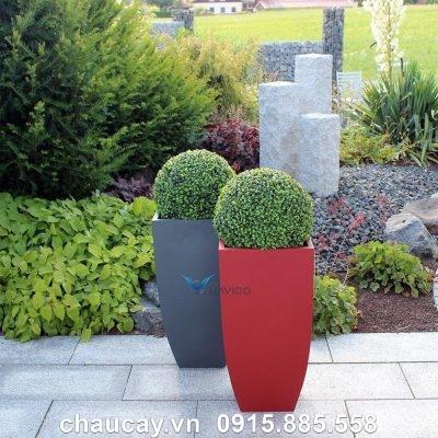 Chậu nhựa composite Havico July vuông vát đáy | CB-339