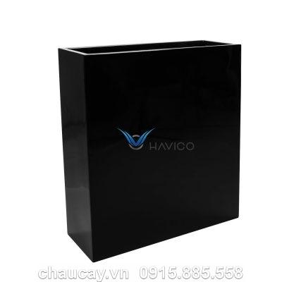 Chậu nhựa composite Havico Hely chữ nhật   CB-334