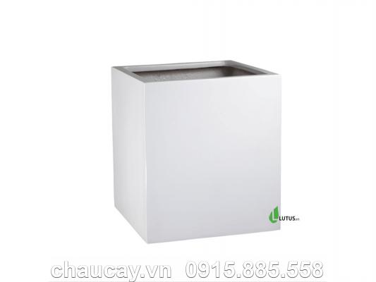 Chậu Cây Composite Vuông Sang Trọng - 11252