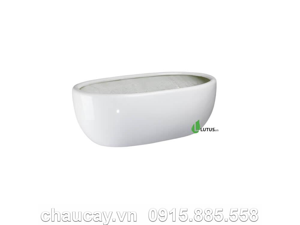 Chậu hoa composite oval cao cấp - 11032