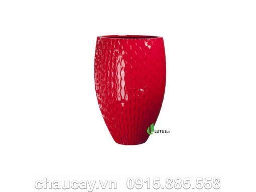 Chậu Nhựa Composite Tròn Vân Nổi Cao Cấp - 11162