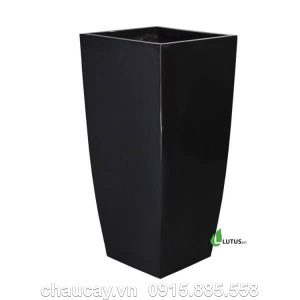 Chậu nhựa composite vuông cao vát đáy - 11141