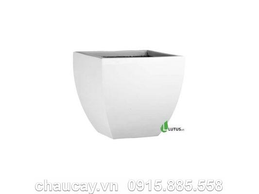 Chậu Nhựa Composite Vuông Thấp Vát Đáy - 11073