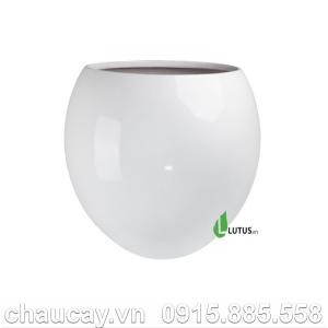 Chậu nhựa trồng cây composite tròn - 11521