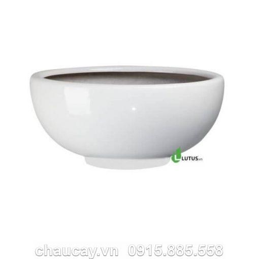 Chậu Trồng Cây Composite Tròn Sơn Bóng - Mã 11154