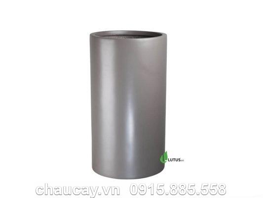 Chậu nhựa composite trụ tròn cao cấp - 11333