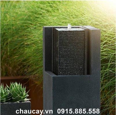 Đài Phun Composite Mini Nội Thất Trụ Vuông Apuro