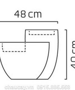 Đài phun composite phong thủy nội thất Comallo màu đá đen