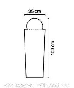 Đài phun nước composite nội thất phong thủy trụ vuông vát