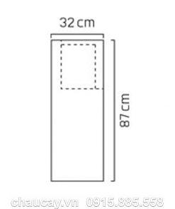 Đài phun nước phong thủy nội thất composite trụ vuông cao