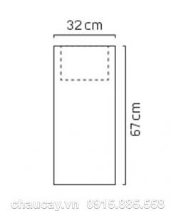 Đài phun nước phong thủy trong nhà composite trụ vuông