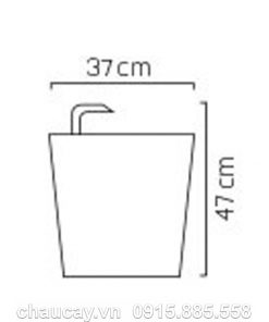 Đài phun nước trong nhà composite mini Esteras
