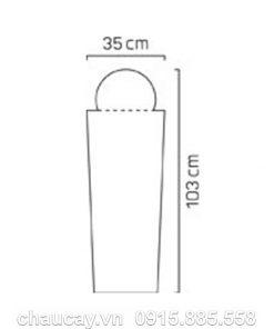 Đài phun phong thủy nội thất composite trụ vuông vát