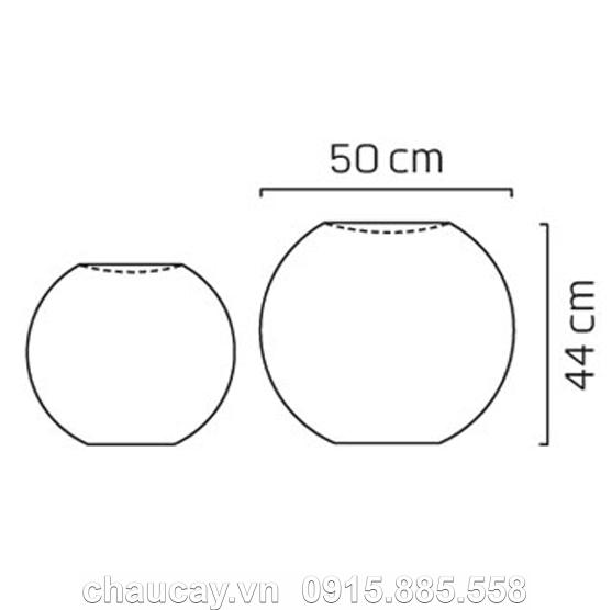 Thác nước nội thất composite phong thủy khối tròn