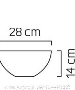 Chậu hoa nhựa composite LANARK vân đá đen
