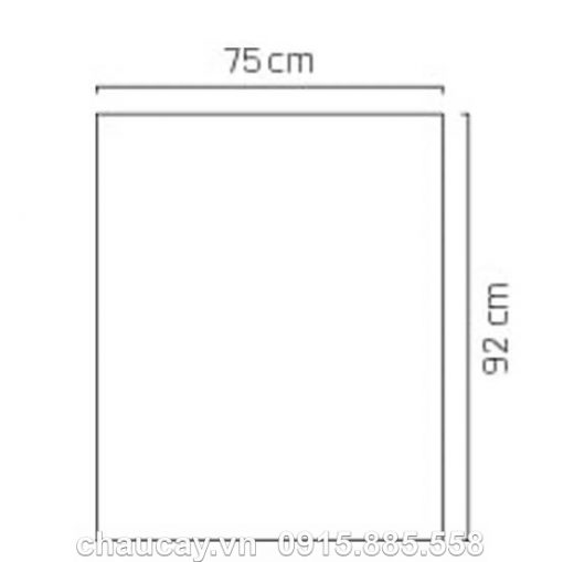 Chậu Nhựa Trồng Cây Composite Esteras Vân Đá Màu Đen