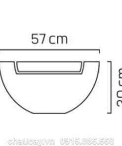 Thác nước phong thủy nội thất composite sang trọng
