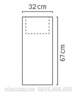 Thác nước phong thủy trong nhà composite trụ vuông