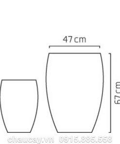 Chậu nhựa composite Esteras Amersfort cao cấp trồng cây