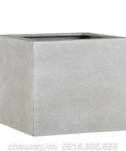 Chậu nhựa composite Esteras Lincoln vuông thấp