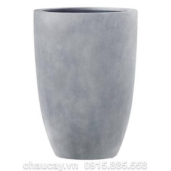Bình Hoa Composite Esteras Clonmel Hình Bom Màu Chì
