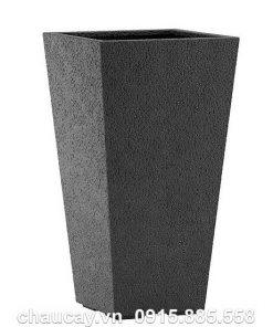 Bình hoa composite Esteras Surrey vuông vát đáy cao cấp