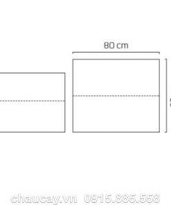 Chậu Nhựa Composite Esteras Bronley Chữ Nhật Sang Trọng