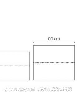 Chậu nhựa trồng cây composite Bronley chữ nhật cao